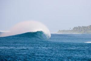 Yin Yangs Surf Break near luxury surf destination Six Senses Laamu, Maldives