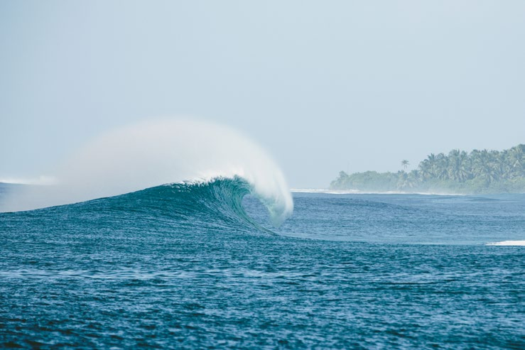 Six Senses Laamu is located close to world-class waves and one of the best luxury surf resorts in the Maldives