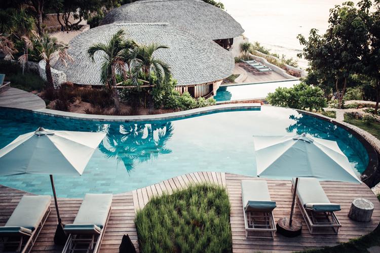 Suarga Padang Padang Wantilan Villas pool Indonesia Surf Resort