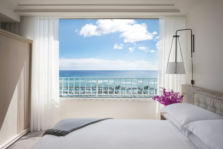 Views from the Ocean Front Suite at The Modern Honolulu Oahu Surf Resort