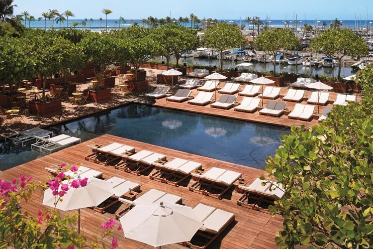 The main pool at The Modern Honolulu Oahu Surf Resort