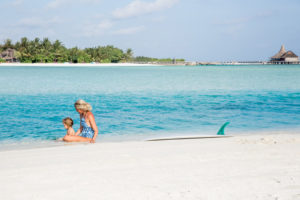 Mother and Daughter at Anantara Dhigu Maldives
