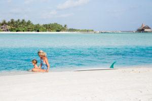 Sarah & Ahlia at Anantara Dhigu Maldives