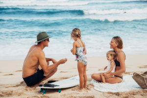 The Payne family on the North Shore Oahu