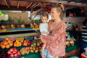 Searching for fresh food on the North Shore Oahu