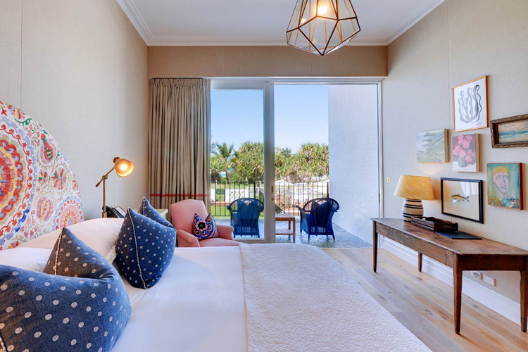 Interior of Deluxe guest room at Halcyon House