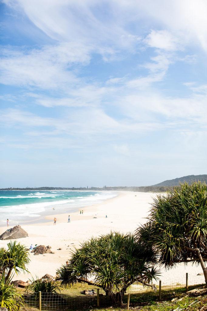 South of the headland at Cabarita Beach