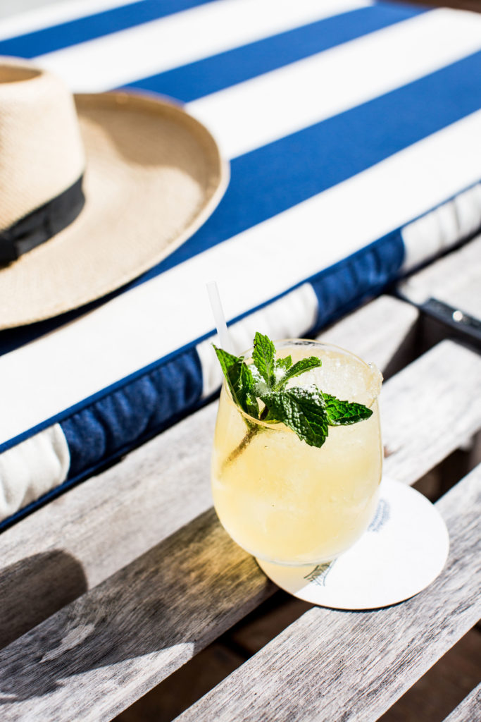 Pool side drinks at Halcyon House