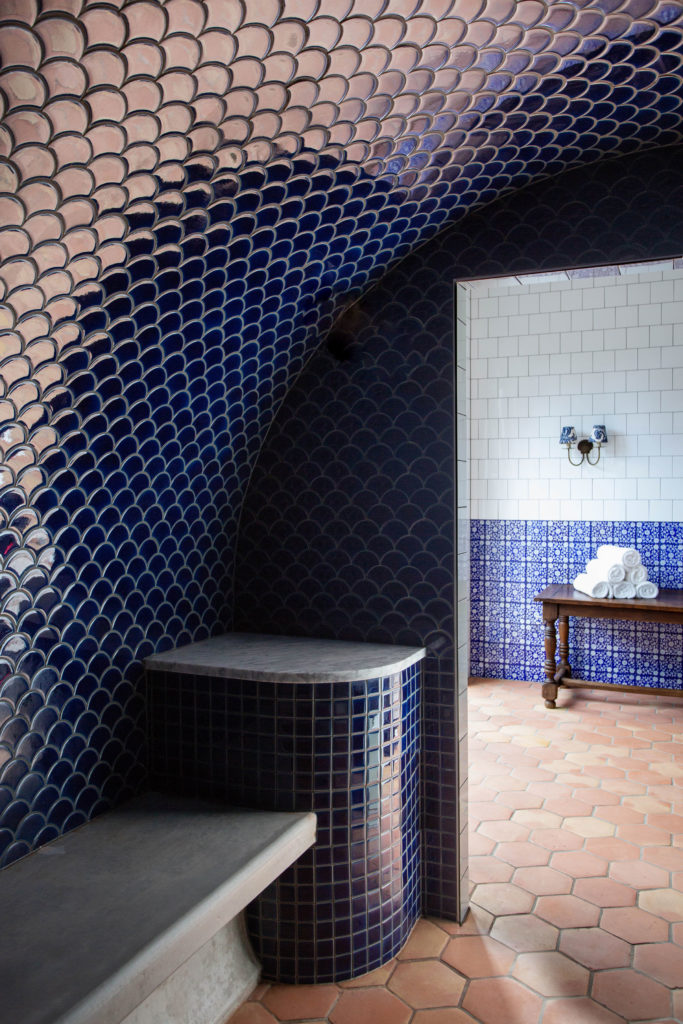 Morrocan inspired steam room at Halcyon House Spa