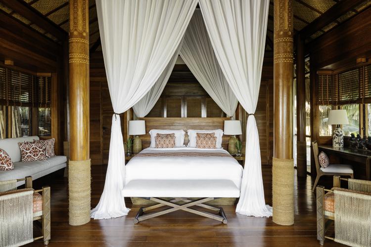 Kanatar Sumba House Bedroom interior, the perfect barefoot luxury surf escape