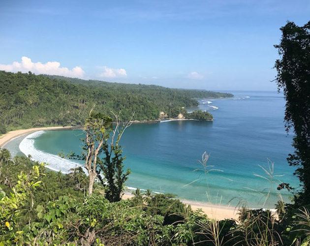 Prestine beaches surrounding Moro Ma Doto Morotai Island Surf Resort Indonesia